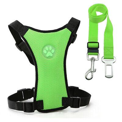 Air Mesh Dog Car Seat Belt Dog Harness&Seat Belt Clip Leash for Dog Travel S M L 6
