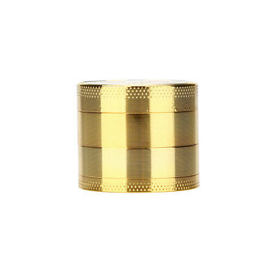 Tobacco Herb Spice Grinder Herbal Alloy Smoke Metal Crusher Cutter Gold 2