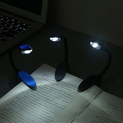 NEW Fine Convenient Portable Travel Book Reading Light Lamp LED Clip Booklight 3