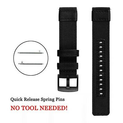 20mm 22mm Nylon Fabric Sport Watch Band Replacement Quick Release Wrist Strap 11