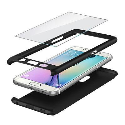 Etui Coque Housse + Film Verre Trempe Protection Integrale 360° Pour Samsung 2