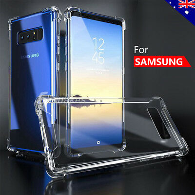Samsung Galaxy S10 S9 S8 Plus Note 9 Case Shockproof Silicone Clear Bumper Cover 4