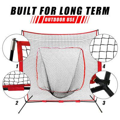 7x7Ft Bow Frame Baseball Softball Teeball Practice Batting Training Net W/Bag 2
