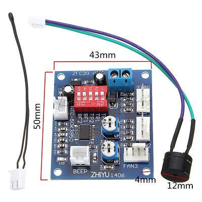 12V Dual Ways / PWM PC CPU Fan Digital Temperature Control Speed Controller UK 2