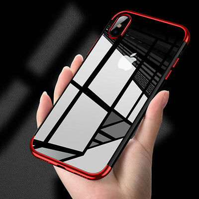 iPhone X XS MAX XR 8 7 Case Shockproof Soft Bumper Tough Gel Clear Cover Apple 11