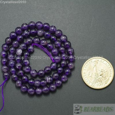 "Grade A Natural Amethyst Gemstone Round Beads 2mm 3mm 4mm 6mm 8mm 10mm 12mm 16"" 3"