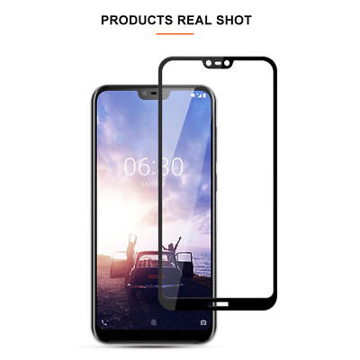 5D Full Coverage Tempered Glass Screen Protector For Nokia 3.1 5 X6 6.1 7 Plus 8 9