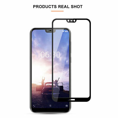 Full Coverage Tempered Glass Screen Protector For Nokia 1 3.1 5 X6 6.1 7 Plus 8 9