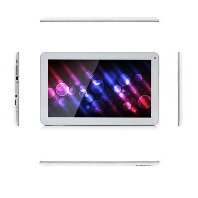 "iRULU 10.1"" Android 5.1 Lollipop 10 Inch Tablet PC 8G Quad Core GMS White BT New 10"