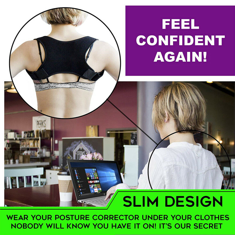 Posture Corrector Women Men Shoulder Brace Back Support Strap Belt Adjustable AU 8