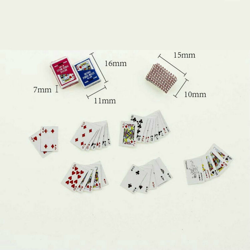 Mini Cute 1:12 Dollhouse Miniatures Poker Home Decoration Poker Playing Cards 5