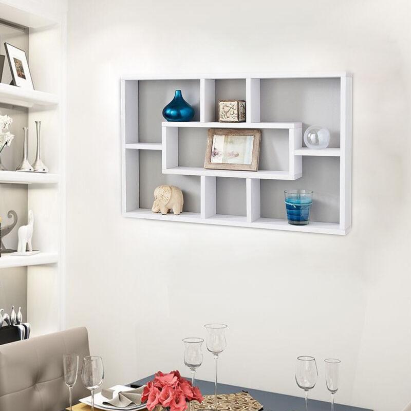 Space Saving Floating Wall Shelves Display Shelf Bookshelf Storage Unit UK 2