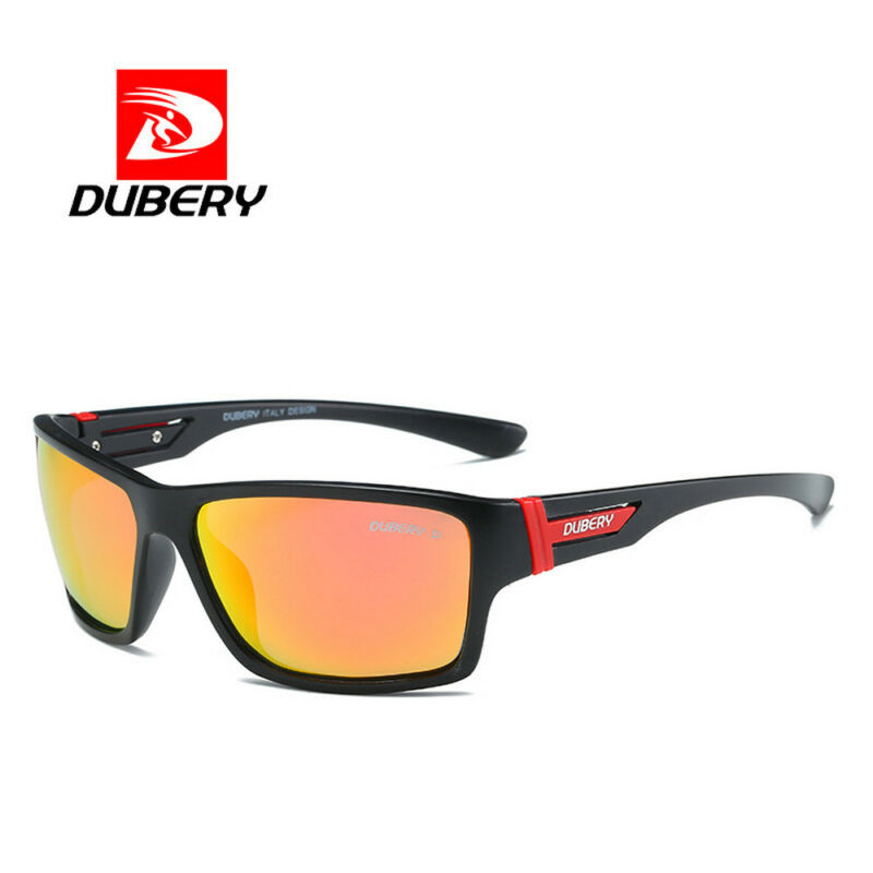 DUBERY Mens Sport Polarized Sunglasses Outdoor Riding Fishing Square Eyewear New 5