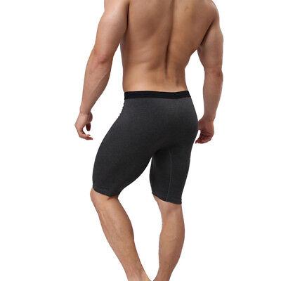 Men Brief Boxer Shorts Trunks Pouch Long Knee Legged Wear Underpants Pants Comfy