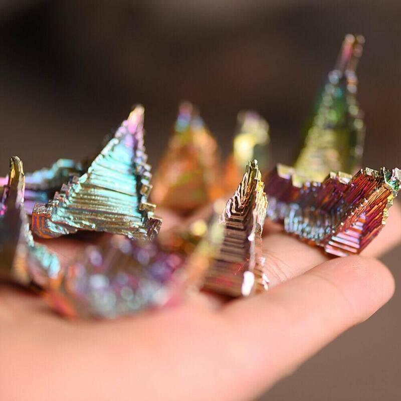 Top Natural Quartz Crystal Rainbow Titanium Cluster VUG Mineral Specimen Healing 9