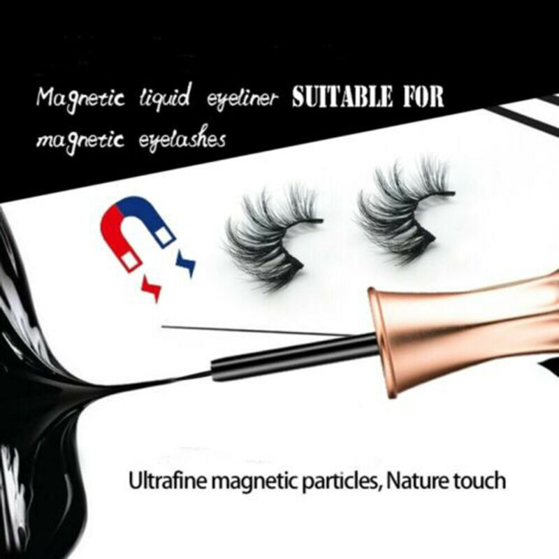 SKONHED 3 Pairs Magnetic Eyelashes With 1Pc Magnetic Eyeliner and Tweezer Set A+ 4
