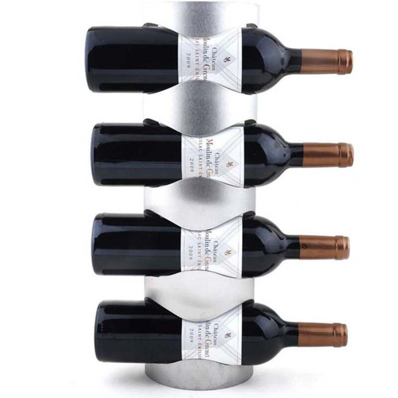 Stainless Steel 3 or 4 Bottle Wine Rack Wall Mounting Bar Decoration Holder Tool