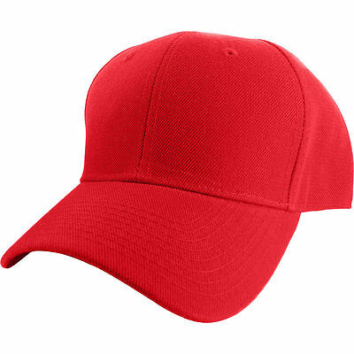 11ac37264e60d ... Plain Fitted Curved Visor Baseball Cap Hat Solid Blank Color Caps Hats  - 9 SIZES 8
