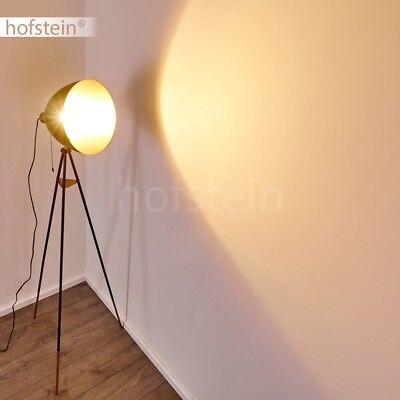 Retro Steh Stand Boden Leuchten Film Wohn Schlaf Zimmer Lampen schwarz-Kupfer
