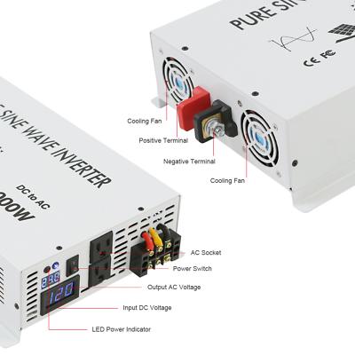 24V to 120V DC to AC Pure Sine Wave Inverter 3500W Solar Power Inverter Home 2