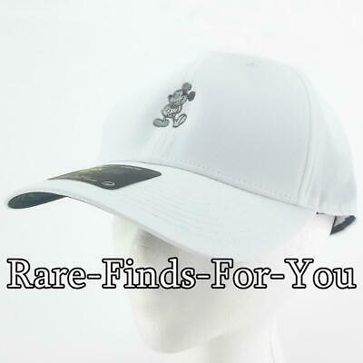 Disney Parks Nike Dri Fit Mickey Mouse White Grey Golf Baseball Cap Hat NEW/TAGS 6