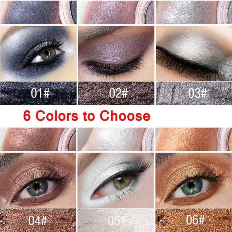 Glitter Eyeshadow Matte Shimmer Pigment Eye Shadow Pressed Metallic Shining Eyes 4