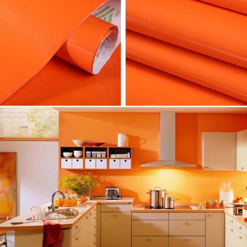 1 Of 11free Roll Self Adhesive Kitchen Door Cupboard Cover Oil Proof Contact Wall Paper