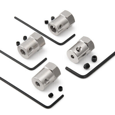 3/4/5/6mm Wheel Hex Coupler Connector Hexagon Shaft Coupling For DIY RC Car Boat 7