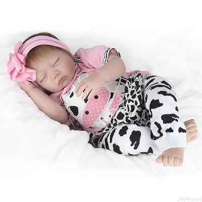 "22"" Handmade Reborn Baby Doll Newborn Lifelike Silicone Vinyl Kids Birth Gifts 6"
