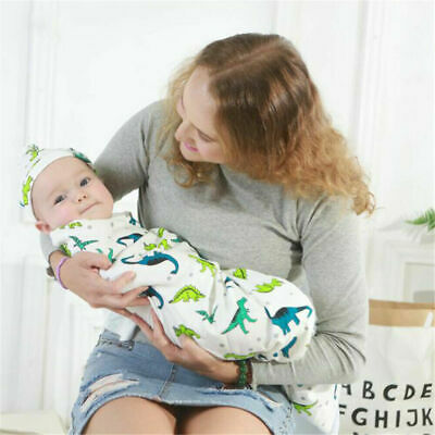 0-6 Months Pure Cotton NewBorn Baby Boy/Girl Swaddle Blanket Wrap Sleeping Bag 6