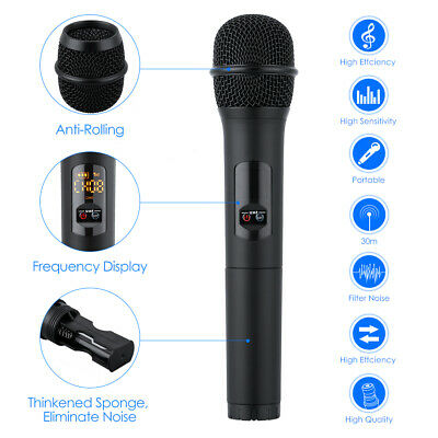 UHF Professional 10 Channel Wireless 2 Handheld Microphone Mic System Bluetooth 2