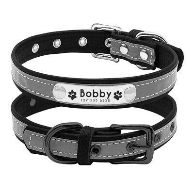 Reflective Personalised Dog Collar Cat Puppy Small Dog Collar Name Phone Engrave 7
