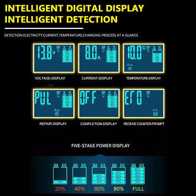 8 Amp Intelligent Car Battery Charger Pulse Repair Starter 12V/24V AGM/GEL UK 5