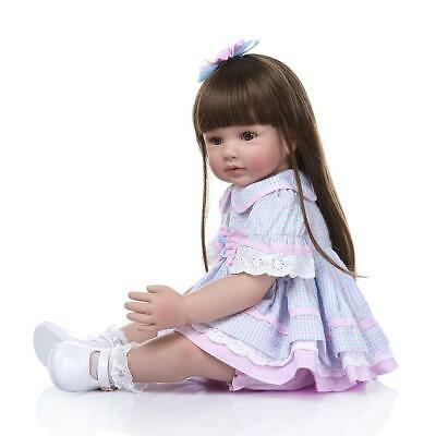 """24"""" Reborn Baby Dolls Weighted Cloth Body Toddler Girl Doll Real Size Xmas Gifts 3"""