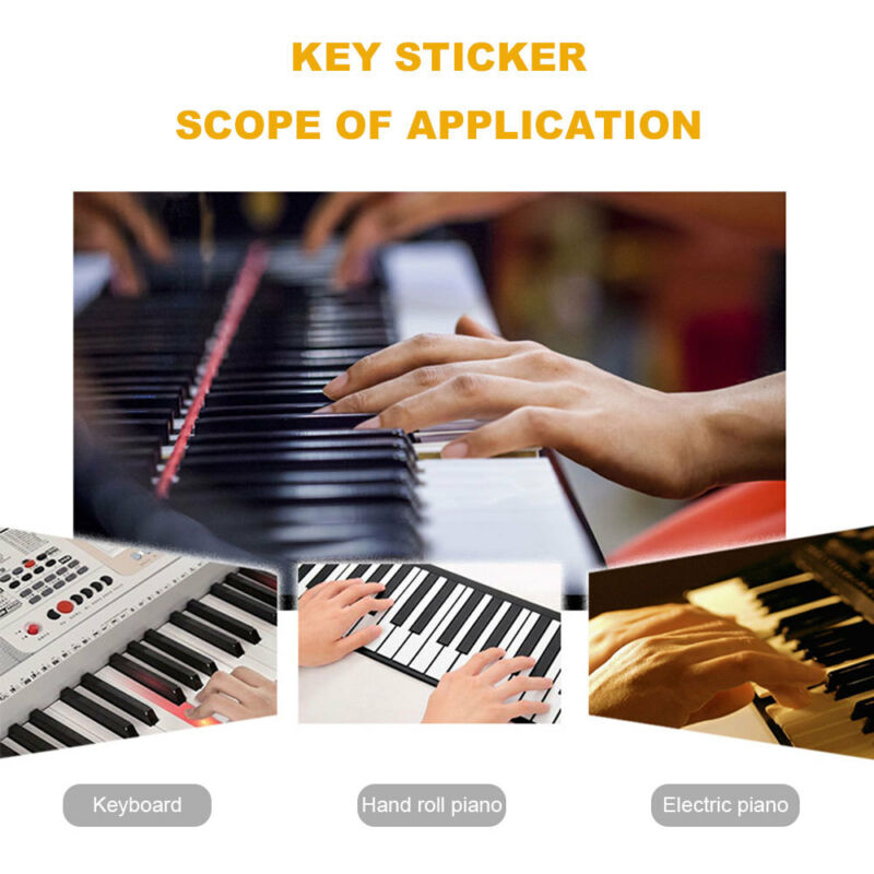 49/61/76/88 Colorful keys Music Keyboard Piano Stickers Set Removable Stickers 6