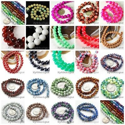 8mm-14mm Round Porcelain Ceramic Color Design Loose Spacer Beads Jewelry DIY