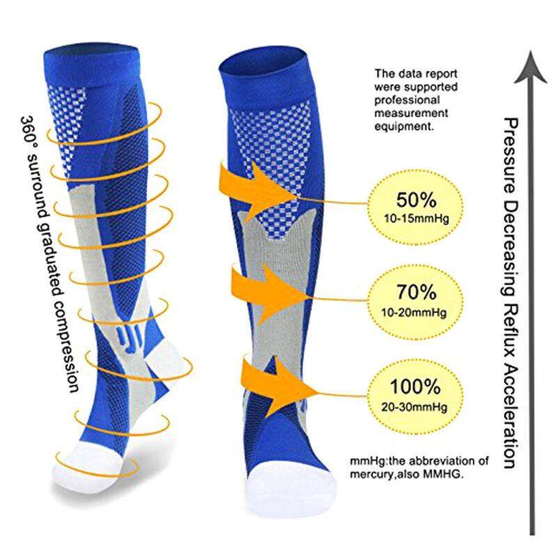 15-30mmHg Medical Compression Socks Support Stockings Travel Flight Socks AU 4