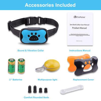Dog Bark Collar Training Electric No Shock Anti Barking with LED Light 3 Shell 9
