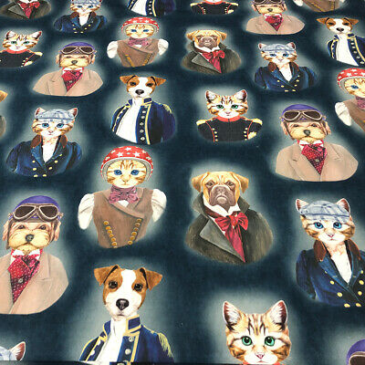 The Pooch & Tabby 100% French Cotton Fabric | Watercolour | Curtain Upholstery 3