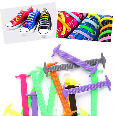 Easy Lazy No Tie Elastic Silicone Shoe Laces Cool Guy Shoelaces Unisex 2