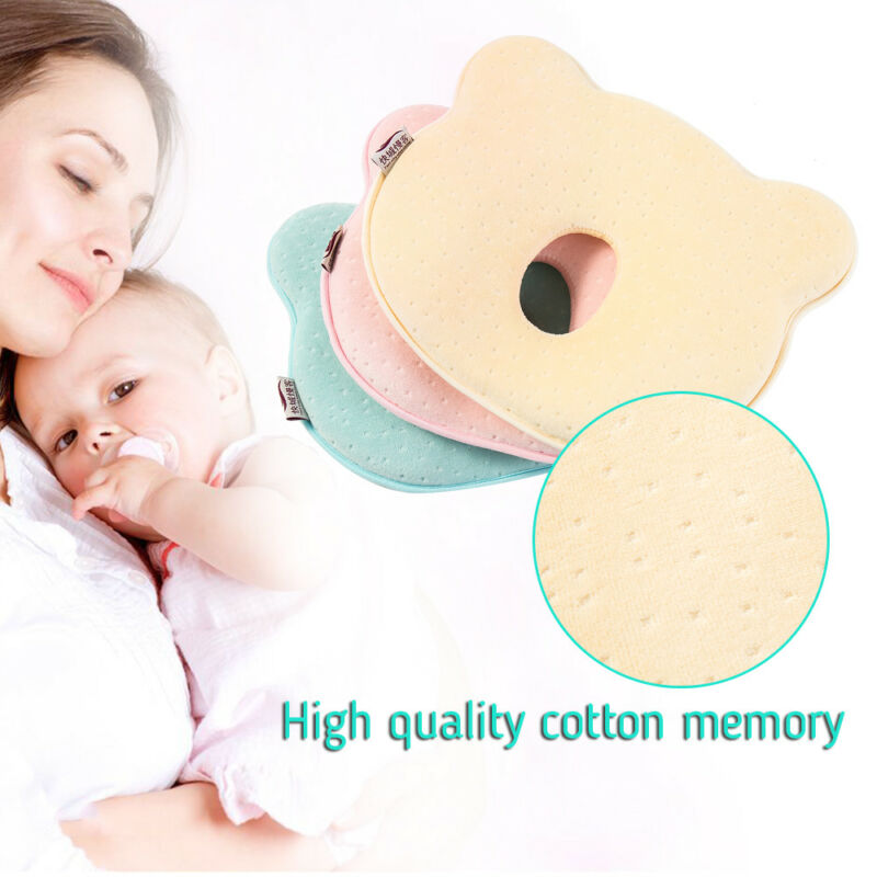 Baby Cot Soft Pillow Prevent Flat Head Memory Foam Cushion Sleeping Support 5