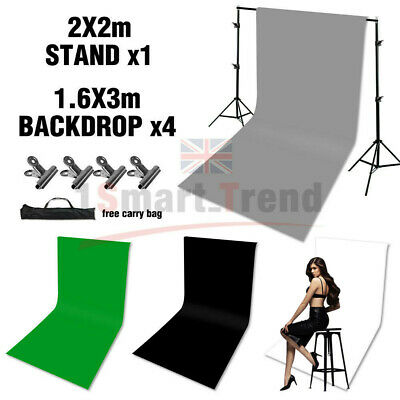 Black/White/Green/Gray Photo Backdrop Screen Background Crossbar Support Stand 2