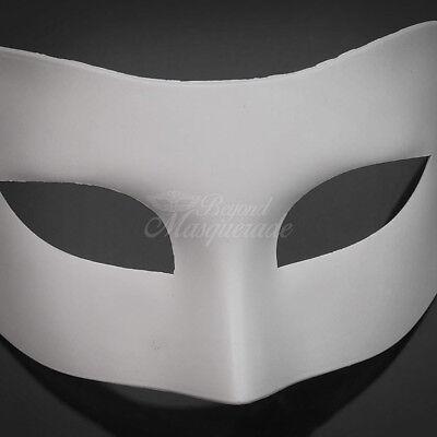 DIY Classic White Blank Unpainted Venetian Mardi Gras Masquerade Mask W7344