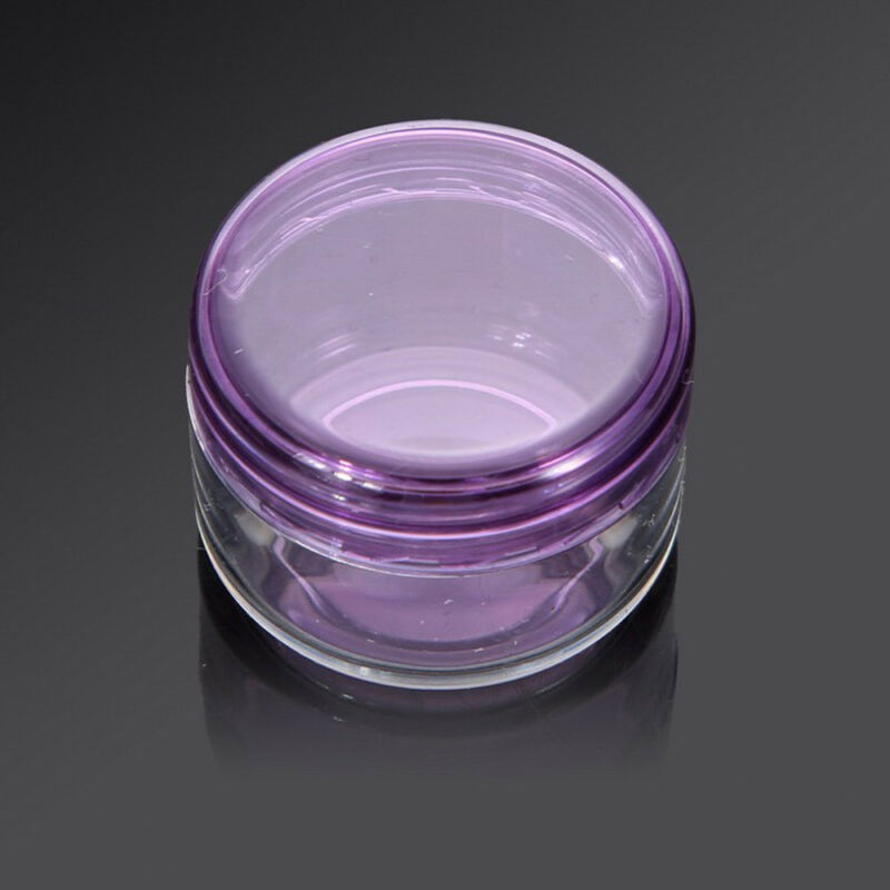 Pretty 10Pcs 5g/ml Cosmetic Empty Jar Pot Eyeshadow Makeup Face Cream Container 5