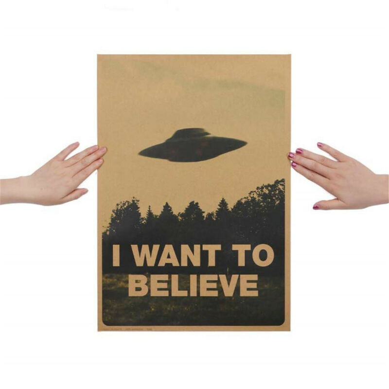 "HOT Vintage Classic X FILES ""I Want To Believe"" Poster Home Decor Wall Stickers 3"