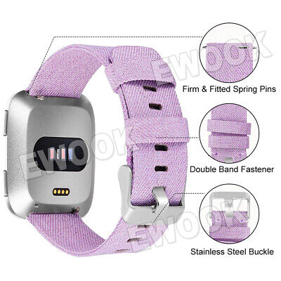 Replacement Band For Fitbit Versa Fabric Luxury Watch Sports Strap Wristband 2
