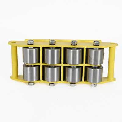 12 Ton Heavy Duty Machinery Cargo Mover Skate w/8 steel wheel handling 26400LBS 10