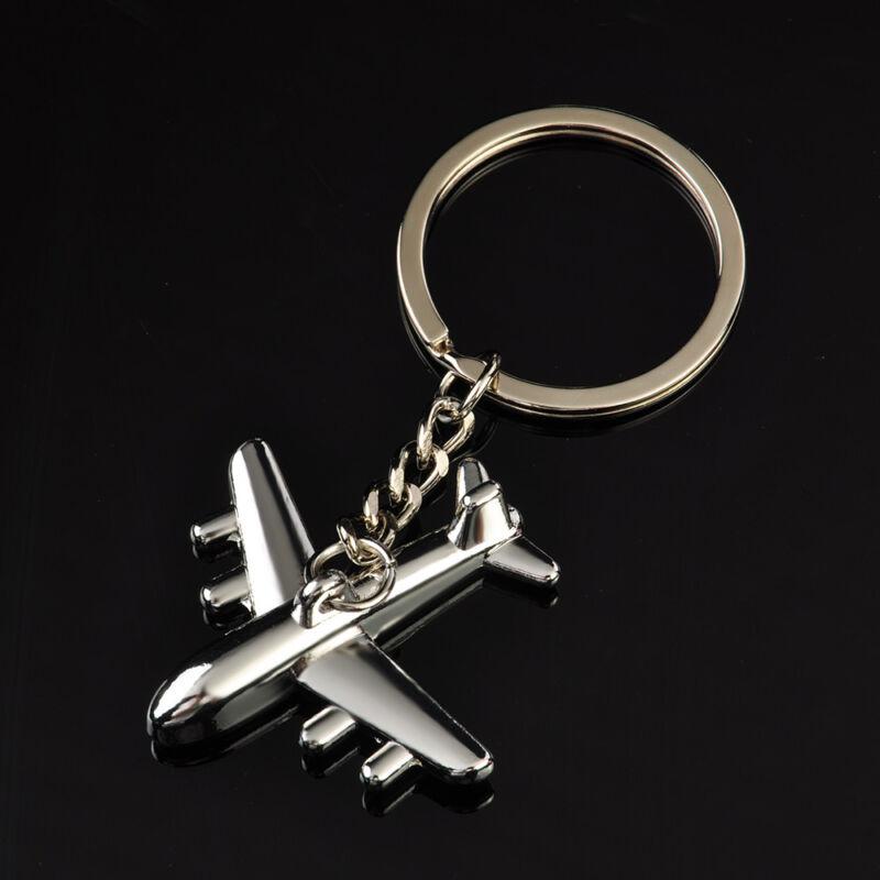 Classic 3D Simulation Model airplane plane Keychain Key Chain Ring Keyring Gift 3