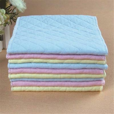5 PCS Adjustable Reusable Lot Baby Washable Cloth Diaper Nappies White Pink New 4