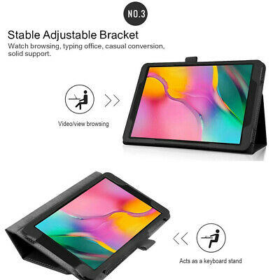 """Case For Samsung Galaxy Tab A 10.1"""" 2019 SM-T510/T515 Tablet Leather Stand Cover 7"""